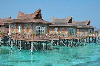 Mabul Water Bungalows Ocean Views