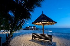 Sipadan Mabul Resort Beach by Night